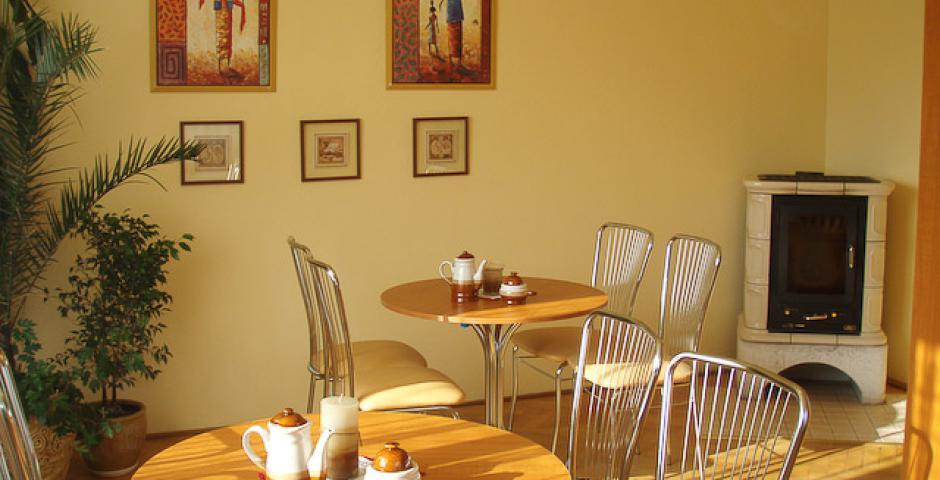 Na obrázku je spoločenská miestnosť v Centre Ambra